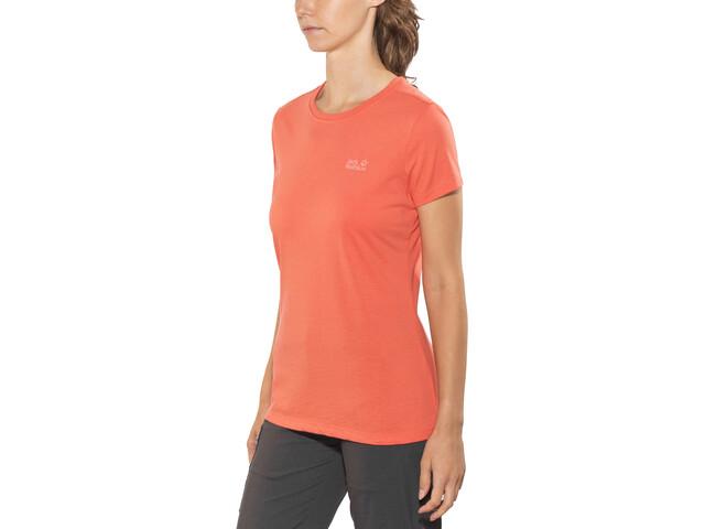 Jack Wolfskin Essential T-Shirt Femme, hot coral